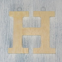 Plywood Letter H
