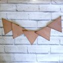 Set of 5 Plywood Vintage style Triangle Bunting