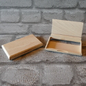 Business Card Box, Cherry wood (takes cards upto 94mm w x 53mm h)