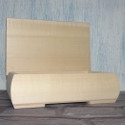 Rectangular Limewood Box with hinged lid & feet