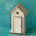 Beach Hut Box, plywood with hook for hanging