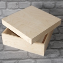 New Small Square Box (Drop on lid) Plywood