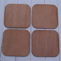 Set of 2 Plywood Coasters with rounded corners