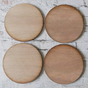 Set of 4 Plywood Round Coasters