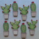 Pack of 8 mini cacti shapes 4 each of 2 designs, as shown