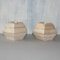 Hexagonal Wooden Candle Holder
