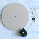 MDF Round Clock Kit (Requires 1 AA battery, not supplied) Assembly instructions included.