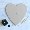 MDF Heart Clock Kit (Requires 1 AA battery, not supplied) Assembly  Instructions included.