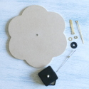 MDF Flower Clock Kit (Requires 1 AA battery, not supplied) Assembly instructions included.