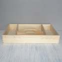 Cutlery Tray 4 compartments, Pine