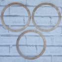 Set of 3 Wooden Dreamcatcher hoops / garlands / mobile, with holes for threading