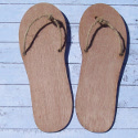 Set of 2 Wooden Flip Flop shape decorations with natural jute string for sign, plaque or garland, Plywood