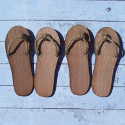 Set of 4 Wooden Flip Flop shapes with natural Jute string, for decoration, plaques, signs & garlands Plywood
