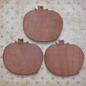 Set of 3 Plywood Pumpkin shape decorations with hole for hanging
