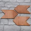 Set of 3 Plywood Arrow Signs