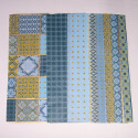 Pack of Decoupage Tissue Paper Green Gold Blue 2 sheets each of 4 designs