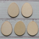 Set of 6 mini Flat Egg shapes