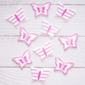 Pack of 10 Pink & White Butterfly shapes, as shown