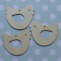 Set of 3 Plywood Chicken shapes with cut out wing