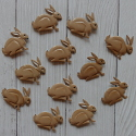 Pack of 12 Metal Rabbit Decorations