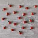 Pack of 20  3d Wooden Ladybird embellishments, as shown