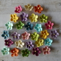 Pack of 28 assorted colour paper flower, as shown