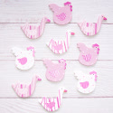 Pack of 10 Wooden Chickens & Ducks Ready Painted  as Shown