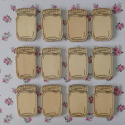 Pack of 10 Natural Wooden Jam Jar Card Topper Embellishments