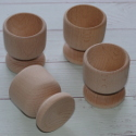Egg Cup Beech wood