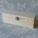 Rectangular Box with Silver Colour Metal Clasp Small