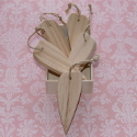 Set of 5 Wooden Hearts in Wooden Box with string for hanging