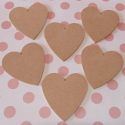 MDF Heart Shape (set of 6)