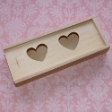 Box with 2 Hearts & Sliding Lid