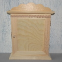 Pine Key Cupboard with clasp and 6 hooks