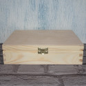 Large Pine & Ply Rectangular Box with Clasp