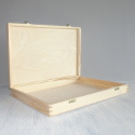 Rectangular Box with Plywood top & base, Pine sides, hinges & clasps