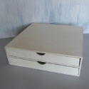 2 Drawer Plywood Scrapbooking Chest (takes 30x30 papers)
