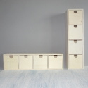Mini chest of 4 drawers to hang or stand