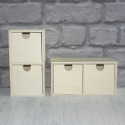 Mini 2 drawer chest with brass hooks to hang or stand