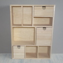 Chest of Drawers Storage box with 3 drawers & 6 compartments