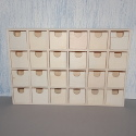 Mini Plywood Chest of 24 drawers