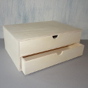 Mini Plywood Chest of 2 drawers takes A4 paper