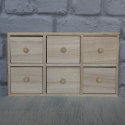Mini Wooden Chest of 6 Drawers