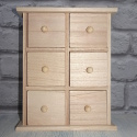 Mini Wooden Chest of 6 Drawers with plinth