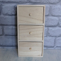 Mini Wooden Chest of 3 Drawers with knob handles