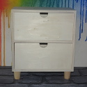Mini Wooden 2 Drawer Chest  on legs