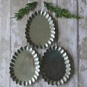 Set of 3 Vintage Style Metal Hanging Decorations