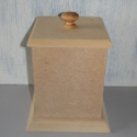 MDF Pot with Lid Large