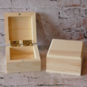 Mini Square Pine Box  with hinges & magnetic catch