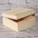 Square pine box with hinge & magnetic catch